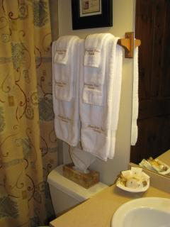 Bathroom - Luxurious towels & amenities await your visit!
