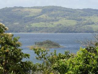 Our view of Lake Arenal and the hills of Monteverde beyond