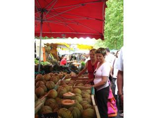 melons in the Amboise market: Sunday & Friday