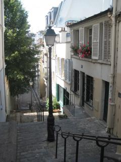 The stairs of Montmartre made famous by Utrillo
