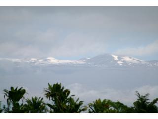 snow covered Mauna Kea