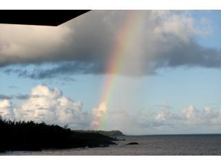 Rainbow over the sky