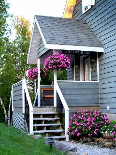 Back porch and main entrance to cottage