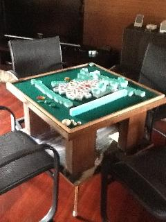 We have two Mahjong tables at the villa