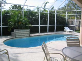 private pool with screened lanai