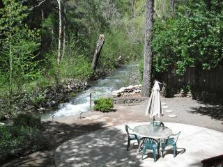 Back of property overlooking creek; relaxing, peaceful sounds