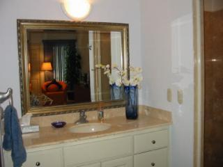 Luxury bath, granite everywhere, luxury linens