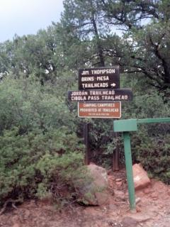 Trail Head Near Red Rock Escape