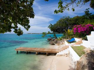Private beach and jetty