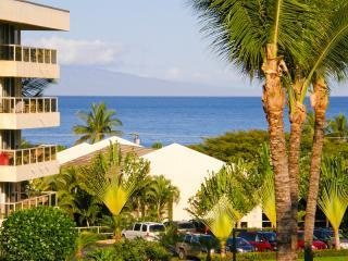 Renovated! Maui Banyan Ocean View, Modern Tropical Decor, Steps to Kam II Beach