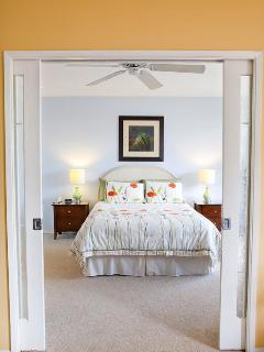 View into bedroom (sliding doors close for privacy)