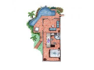 Caribbean Blue Suite floor plan