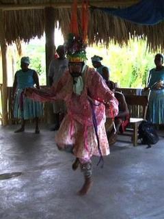 Garifuna dancers at the Yubu Center East End Punta Gorda, Roatan