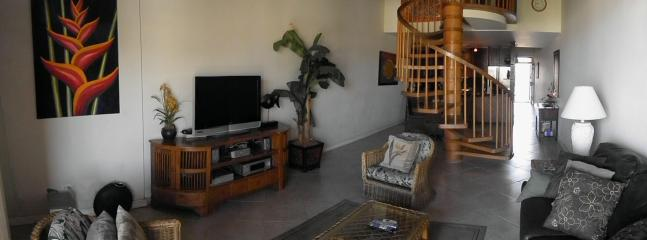 Spacious and comfortable living space with pull out sofa