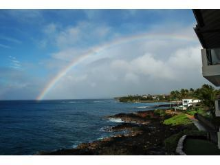 Rainbow over Poipu taken from 305A lanai