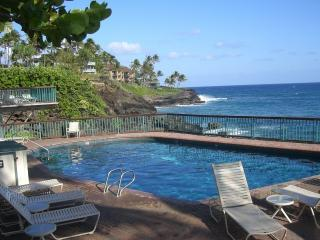 Our Oceanfront pool at Poipu Shores is heated!