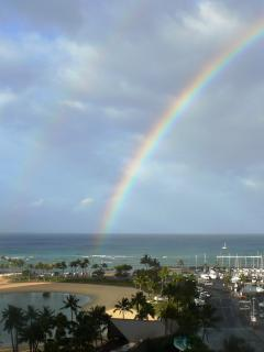Hawaii- Rainbow State! From my lanai!