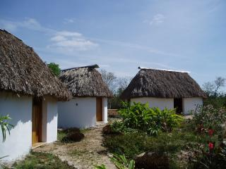 Sac Nicte  three mayan houses