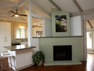 Wood Burning fireplace off dinning room and large open kitchen