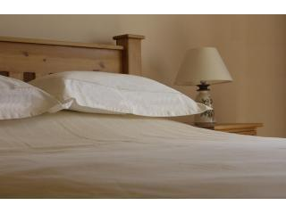 Fresh linen on locally crafted Ballindullagh Beds