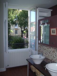 Bathroom window open