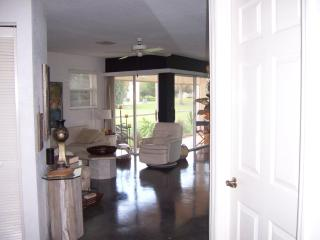 View from entry to the Living room and Lanai