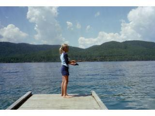 Fishing off Ptarmigans Private Dock