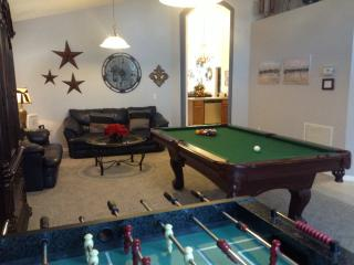 Den, pool table, family games, library, football table , fully air conditioned.
