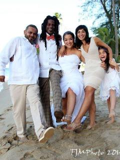 Bridal Party on our beach