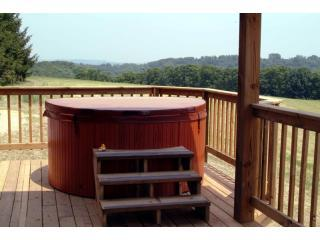 Private hot tub right on the deck!