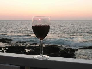 Copa de vino al atardecer