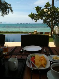 Breakfast by the Pool - what a view!