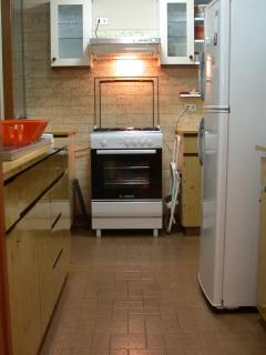 Full equiped kitchen with gas stove.