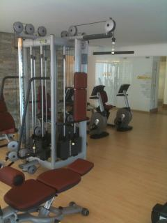 Our guests have a fully-equipped fitness center and spa at their disposal
