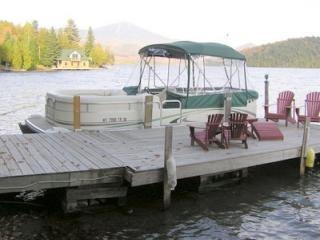 Pontoon Boat at our Dock