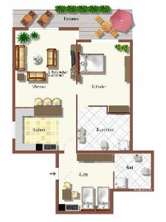 Floorplan for Hacienda Antigua Villa and Suite