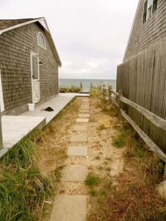 Pathway from cottage to the beach