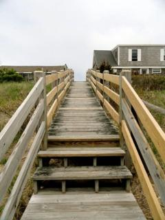 Staircase view from the beach