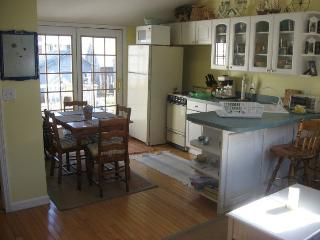 Kitchen Dining with french door to deck
