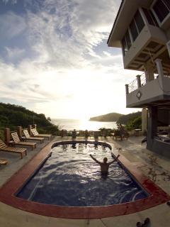 Pool  w/ guest at Casa Del Soul