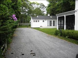 Front of cottage and porch- owners home in front