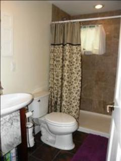 Bath with walk in shower