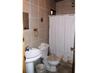 Pool room bathroom