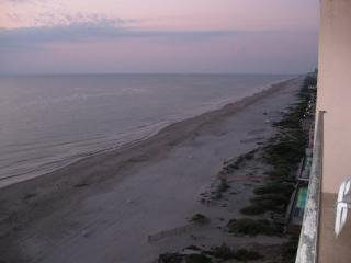 View of the beach from the private balcony facing south
