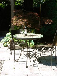 A table for two in the private garden