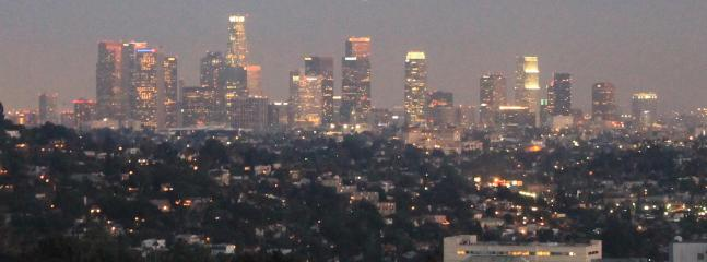 Los Angeles skyline view facing south from The Villa Sophia