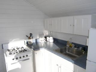 Bright and white with slider to back deck