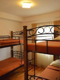The children's room has two large bunk beds, which can even sleep 4 adults