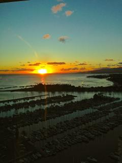 Original work of Art everynight Sunset from Ilikai Hotel