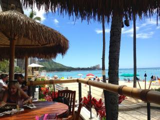 Waikiki Beach at 'Dukes' lunch then hop on a Catarmaran for a suck em up cruise